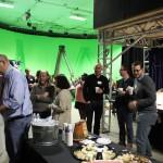 Guests mingle at Trumbull Studios